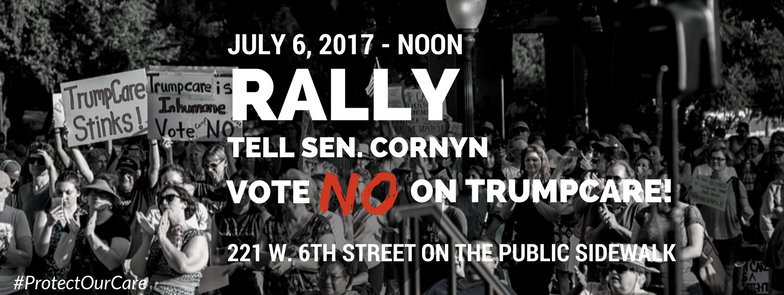 Rally outside John Cornyn's office at noon on Thursday
