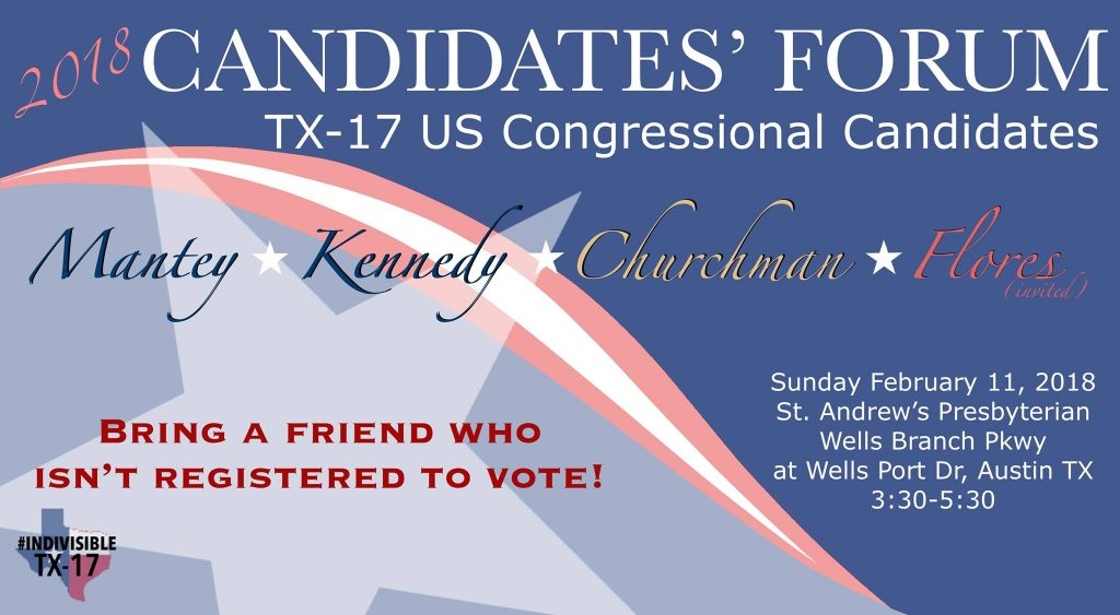 TX-17 candidate forum in Austin on Feb 11