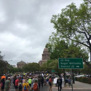 Marchers approaching Texas Capitol