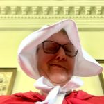 Cat Yuracka in Handmaids Uniform