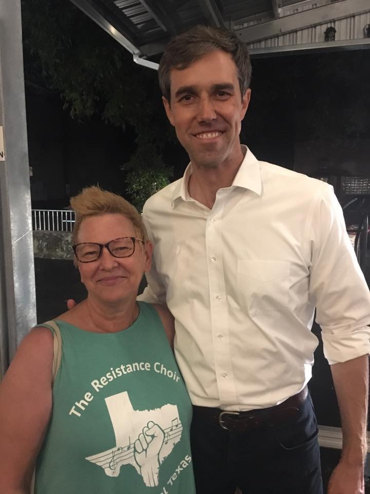 Cat Yuracka with Beto O'Rourke