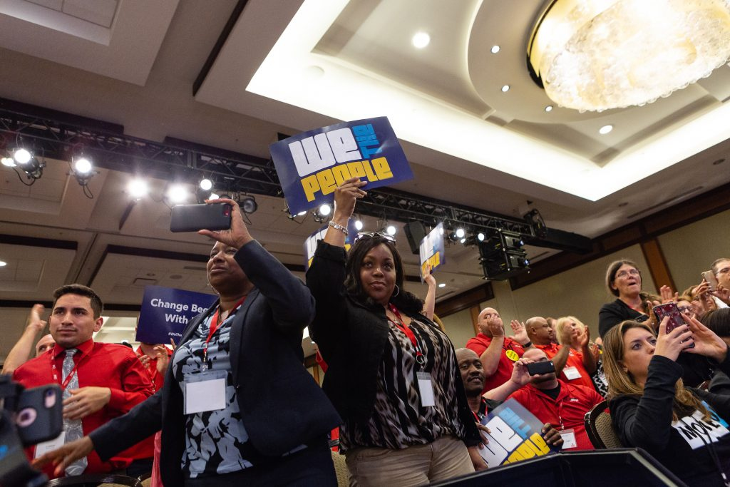 Progressive activists joined Communications Workers of America at the We The People 2018 Summit.