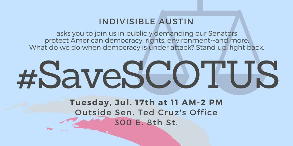 Rally to Save SCOTUS on Tuesday 7/17