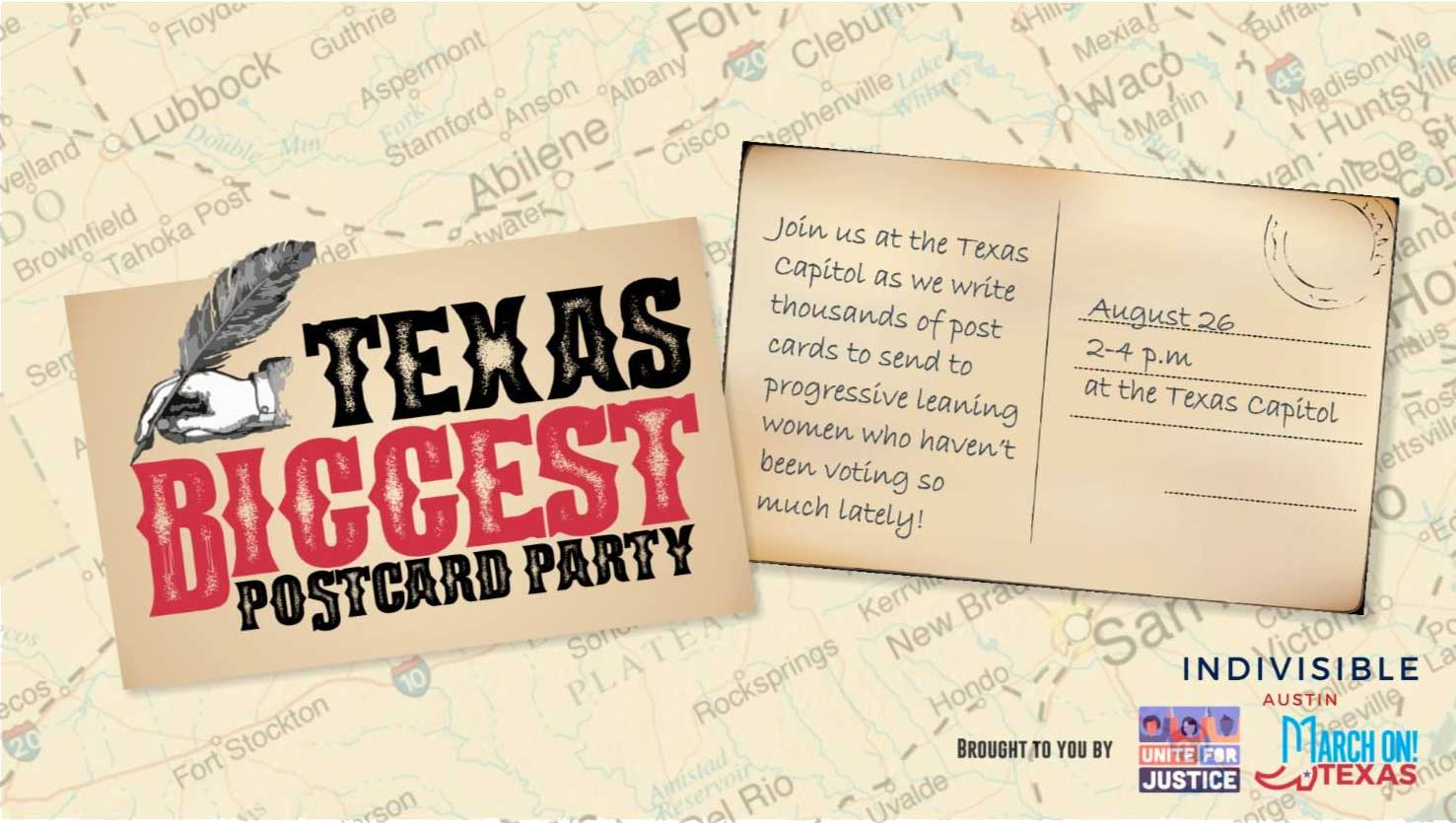 Texas's biggest postcard party