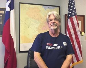 Activist Brian Clark from TX21 Indivisible