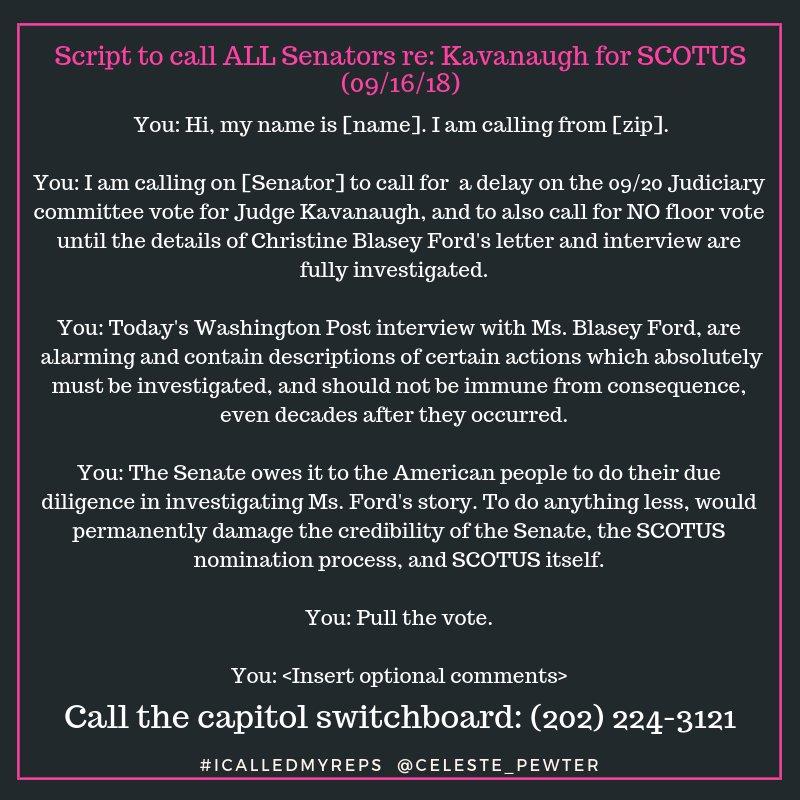 Tell Cornyn and Cruz no on Kavanaugh