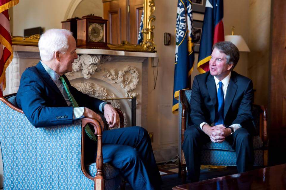 John Cornyn and Brett Kavanaugh