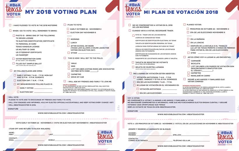 Voting plan in English and Spanish