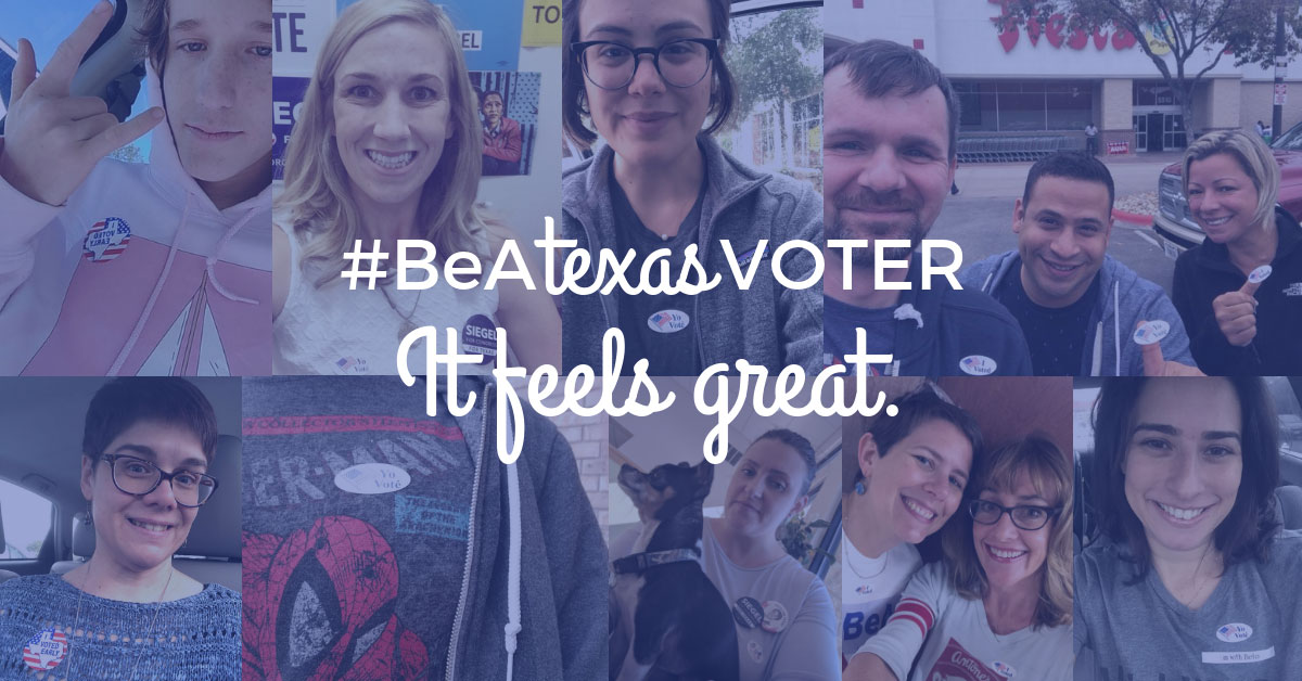 #BeATexasVoter It Feels Great