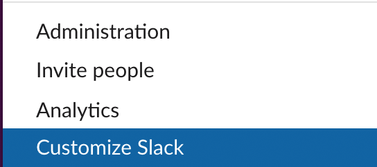 customize slack