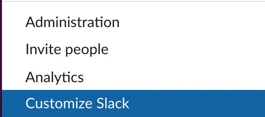 customize slack