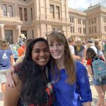 Julie Oliver with March of Our Lives Activist Parisa