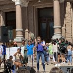 Julie Oliver at the Austin CLimate Strike