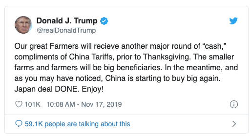 Trump lies about payouts to small farms