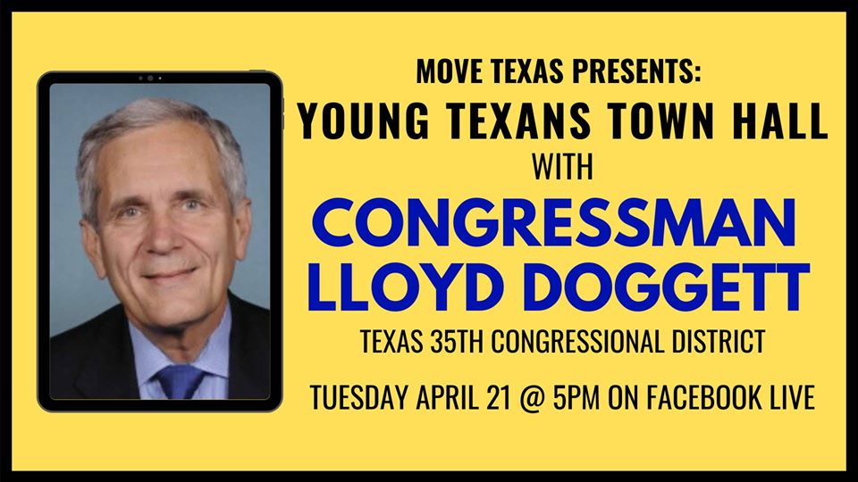 MOVE Texas Facebook Live event with Rep. Lloyd Doggett