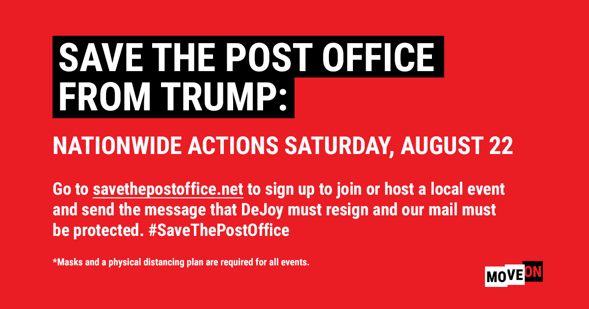 Save the post office from Trump